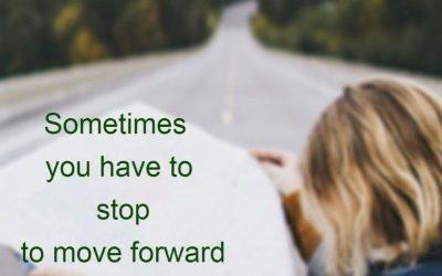Soms moet je stoppen om verder te komen