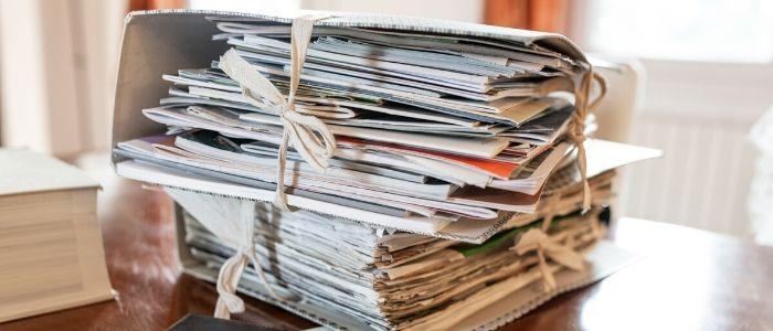 Papieren opruimen